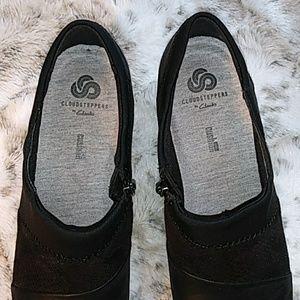 Clarks Shoes - Clarks Cloudsteppers black